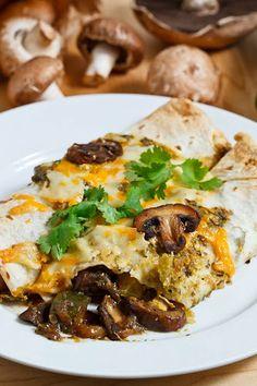 Mushroom and Zucchini Enchiladas