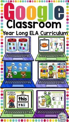 This digital resource is a bundle of everything you need to teach literacy to beginning readers in your kindergarten classroom. This resource includes activities to teach letter knowledge, phonological awareness, phoneme segmentation, rhymes, counting sy Sight Words, Cvce Words, Nonsense Words, Google Classroom, Classroom Ideas, Future Classroom, School Classroom, Reading Groups, Guided Reading