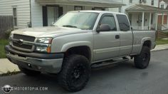 2004 Chevy Silverado 2500 HD with 6 inch fabtech lift on Old Ford Trucks, Chevy Pickup Trucks, Lifted Chevy Trucks, Chevy Pickups, Chevrolet Silverado, Chevy Silverado 1500, Chevrolet Trucks, Truck Mods, Chevy Girl