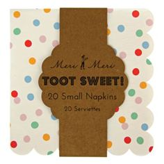 Toot Sweet Small Party Napkins (Set of 20)  | The Land of Nod