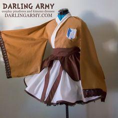 Attack on Titan Survey Corps Cosplay Kimono Dress by DarlingArmy on DeviantArt