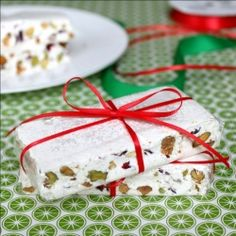 TORRONE! Cranberries & pistachios bound together by the dreamiest vanilla nougat this side of a Charleston Chew.