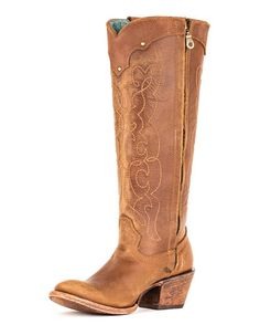 Women's Kats Natural Westport Boot - C1971 I love these boots. The color is actually darker than what is shown here. I like that I could wear them with outfits that are not western. Nice height, and a leather sole for dancing. I want them. HINT HINT