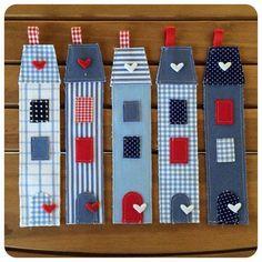 House - Heart....felt bookmark....