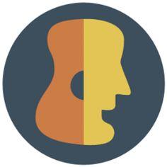 """A logo I designed for the guitar-themed blog, """"Guitar Gab."""""""