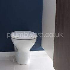 Vitreous China Back to Wall Toilet Pan high) with horizontal outlet. Back To Wall Toilets