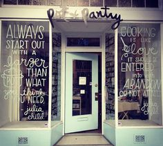 Julia Child quotes & storefront | from Rena Tom via Oh So Lovely Vintage