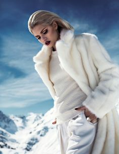 Martina Dimitrova Stuns in the Snow for DV Mode by Fredrik Wannerstedt 757798e94