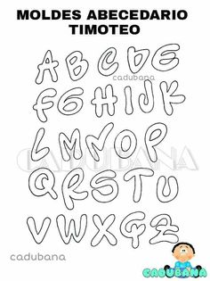 Letra Timoteo Hand Lettering Alphabet, Cool Lettering, Lettering Styles, Letras Cool, Bullet Journal Diy, Alphabet Code, Pretty Letters, Printable Letters, My Notebook