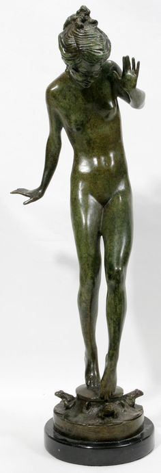 "harriet frishmuth | AFTER HARRIET FRISHMUTH, BRONZE SCULPTURE H 22"" : Lot 102250"
