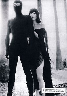 """Diabolik"" Photo with Jean Sorel and Elsa Martinelli"