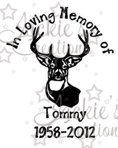 In Loving Memory Of Hunter Deer Sticker Decal Window Memorial - Window decals in memory of
