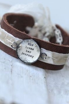 She loves her journey Leather Cuff
