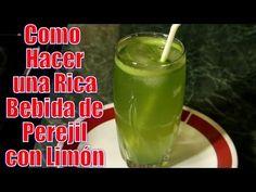 Bebida de Perejil con Limón | Casayfamiliatv ** Casayfamiliatv.com