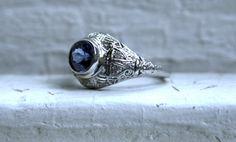Stunning Vintage Filigree Platinum Diamond and by GoldAdore