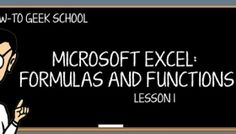 This How-To Geek School class is intended for people who use Excel, or try to use Excel, but are intimidated by the concept of formulas and functions. Its objective is to make you an Excel pro or at least a competent amateur in just a few lessons.