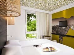 Hotel Ibis Styles Paris Buttes Chaumont MOHA Architecture  #interiordesign #decoration #hotel  hospitality projects, hotel design, hotel decor See more at: brabbucontract.com