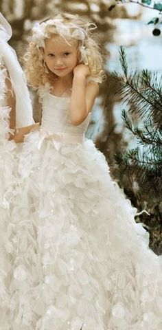Weddings: ZsaZsa Bellagio Flower girl, dress with pale pink bow