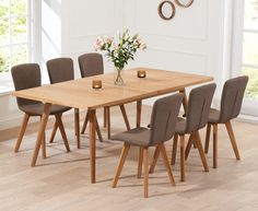 Rectangular 8 Person Dining Table In Oak Wood Article