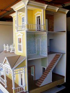 Cardboard Dollhouse, Diy Dollhouse, Dollhouse Miniatures, Victorian Dollhouse, Miniature Crafts, Miniature Houses, Miniature Dolls, Miniature Tutorials, Barbie Furniture
