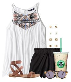 """""""Casual day"""" by flroasburn on Polyvore featuring American Eagle Outfitters, J.Crew, Forever 21 and Illesteva"""