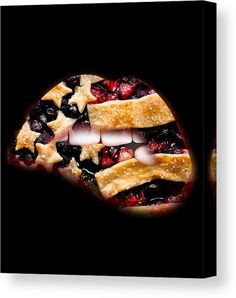 American Pie Canvas Print featuring the mixed media American Pie by Marvin Blaine