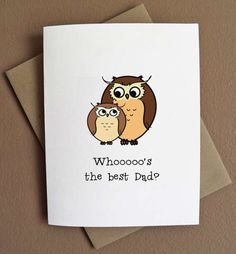Father's Day Card, would look great with my Stampin Up owl punch