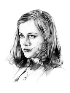 Cybill Shepherd in The Last Picture Show by Caroline Andrieu Amazing Drawings, Beautiful Drawings, Art Drawings, Drawing Art, Pencil Drawings, Portraits, Portrait Art, Liz Clements, Cybill Shepherd