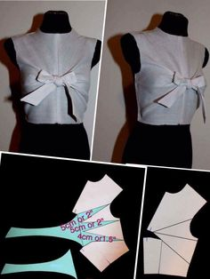 All Things Sewing and Pattern Making sewing patternmaking draft patterns patternconstruction fashion details Wrap blouse Dress Sewing Patterns, Blouse Patterns, Sewing Patterns Free, Clothing Patterns, Sewing Clothes, Diy Clothes, Pattern Draping, Recycled Dress, Wrap Blouse