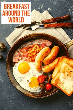 It's the most important meal of the day, breakfast! These international breakfasts may just give you a few ideas on creating your own unique breakfast recipes. #Breakfast #FoodTravel