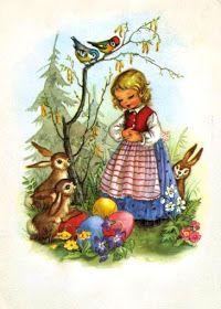 🌟Tante S!fr@ loves this📌🌟 Vintage Cards, Vintage Postcards, Vintage Images, Vintage Easter, Vintage Holiday, Easter Art, Easter Bunny, Illustrator, Easter Illustration