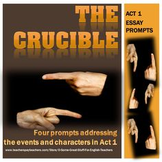 the crucible argumentative essay assignment who or what i tpt  the crucible act 1 essay prompts