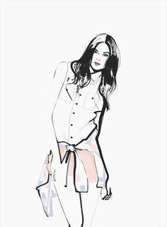 Fashion Sketch - stylish fashion illustration // Katerina Murysina