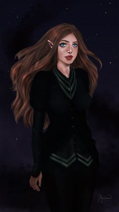 High Lady of the Night Court art by the-suriel-who-lived