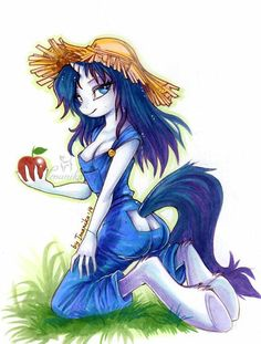 Anthropomorphic art involves combining human physical or behavioral traits onto anything that is not human. My Little Pony Rarity, Rarity Human, Mlp Rarity, Princess Twilight Sparkle, Mlp Characters, Mlp Fan Art, Mlp Comics, My Little Pony Pictures, Anime Kiss