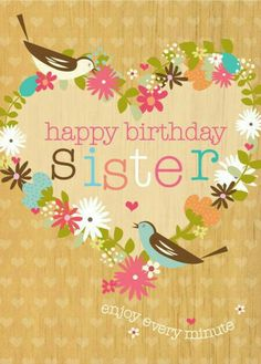 Pink birthday balloon card for sister your sisters birthday is 4 27 16 m4hsunfo