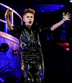Bieber in leather