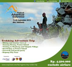 Festival Adventure Indonesia 15-20 Sept 2015  Alor, East Nusa Tenggara, Indonesia  Join our adventure! For more detail contact info@cityrockertrip.com