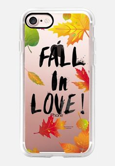 Fall In Love iPhone 7 Case by Allison Reich | Casetify  USE CODE: R7RAGW for a DISCOUNT!! #CasetifyiPhone7 #iphone7case #iphonecase #case #cases #love #casetify #clearcase #fall #autumn #leaves #fallleaves #gifts