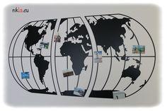 Raccogli le foto e i ricordi di tutti i tuoi viaggi su una Bacheca in ferro NIKLA steel design. Realizzata in tre pezzi con tecnologia Taglio Laser. Fissaggio a muro con quattro tasselli diametro 5mm per pezzo. Design e produzione rigorosamente MADE IN ITALY.