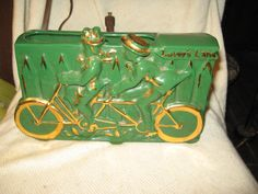 1950 TV Lamp Planter Lovers Lane Bicycle Built For Two