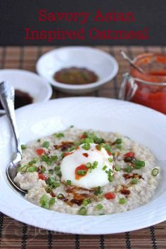 Asian Inspired Savory Oatmeal Recipe (Power Foods) ~ http://jeanetteshealthyliving.com