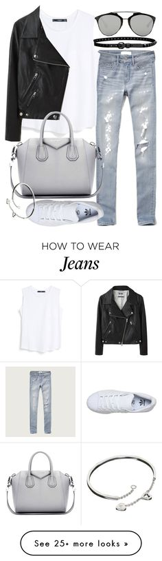 """Untitled #19532"" by florencia95 on Polyvore featuring Abercrombie & Fitch, Linea Pelle, MANGO, Acne Studios, Givenchy, adidas, Cartier, Christian Dior, women's clothing and women"
