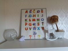 DIY alphabet board