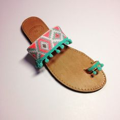Handmade bohemian leather sandals by Ilgattohandmade on Etsy
