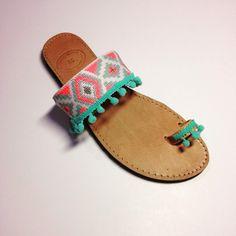 Handmade bohemian leather sandals by Ilgattohandmade on Etsy