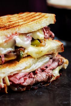 Loaded Grilled Roast Beef Sandwich
