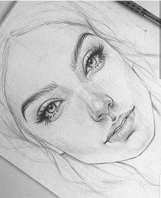 Pencil Drawings En raison d'un défaut de papier, la jeune fille aura une cicatrice sur la joue :( Из-за д . Portrait Au Crayon, Pencil Portrait, Pencil Art Drawings, Art Drawings Sketches, Sketches Of Faces, Face Pencil Drawing, Tattoo Sketches, Tattoo Drawings, Drawing People Faces