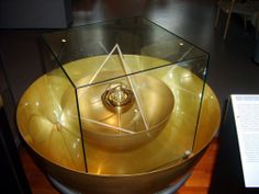 A model of Kepler's solar system, on display at the Technical Museum, Vienna.