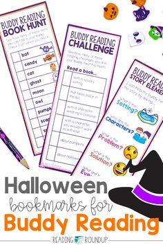 Is your Daily 5 Buddy Reading Center as effective as you'd like for it to be? These Halloween themed digital and printable reading buddies bookmarks are guaranteed to lead to more student engagement. Elementary students can practice retelling the story elements with these bookmarks and graphic organizers. Reading response sheets are also available for additional accountability during literacy centers. A must-have for your reading workshop! Partner Reading, Reading Response, Student Reading, Reading Centers, Reading Workshop, Literacy Centers, Short I Words, O Words, Story Elements Activities